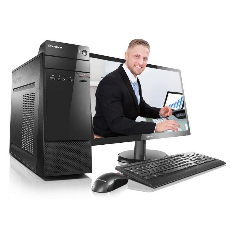 联想(Lenovo)扬天M6201C 商务家用台式机 I3-6100 4G 1T 1G 主机+19.5英寸液晶显示器