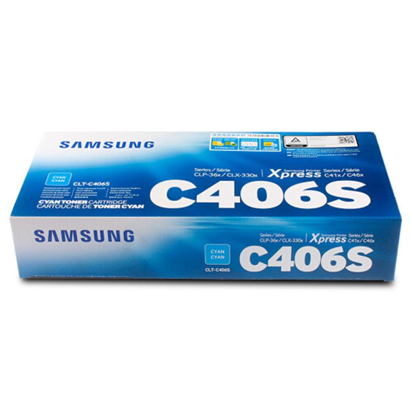 三星(SAMSUNG)CLT-C406S兰色粉盒(适用于:C410W 460FW CLP-366w CLX-3306FN)