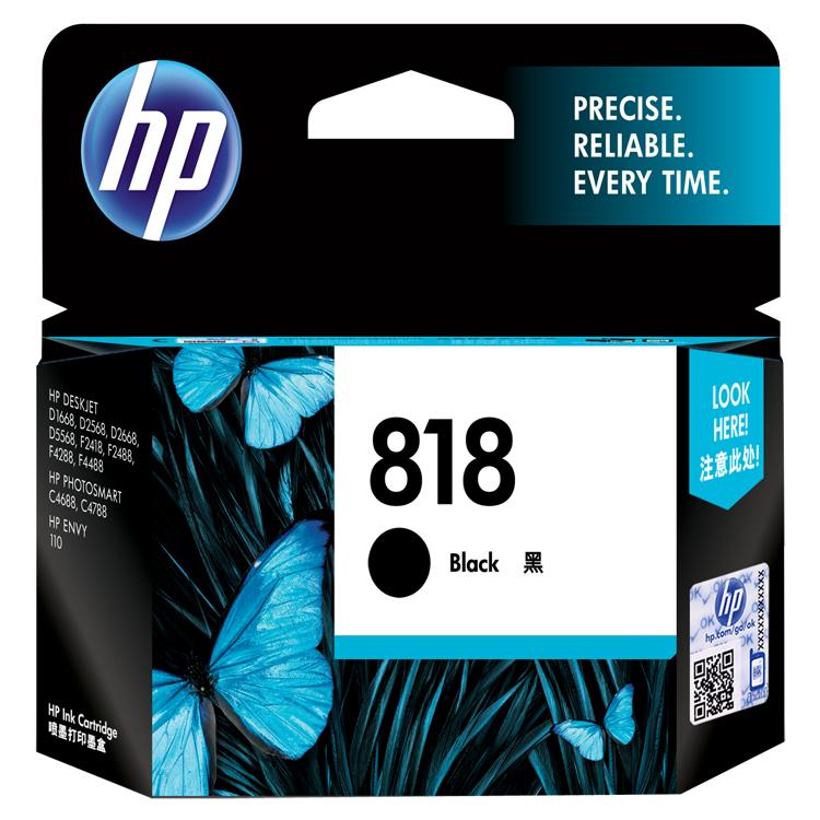 惠普(HP)CC640ZZ(818)黑盒 (适用于:HP Deskjet D1668/D2568/F2418/F2488)