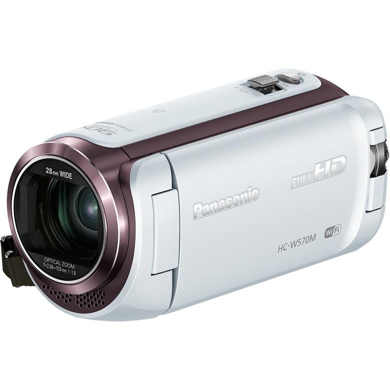 松下(Panasonic)Lumix HC-W570M 高清数码摄像机 白色 (双镜头 5轴光学防抖)