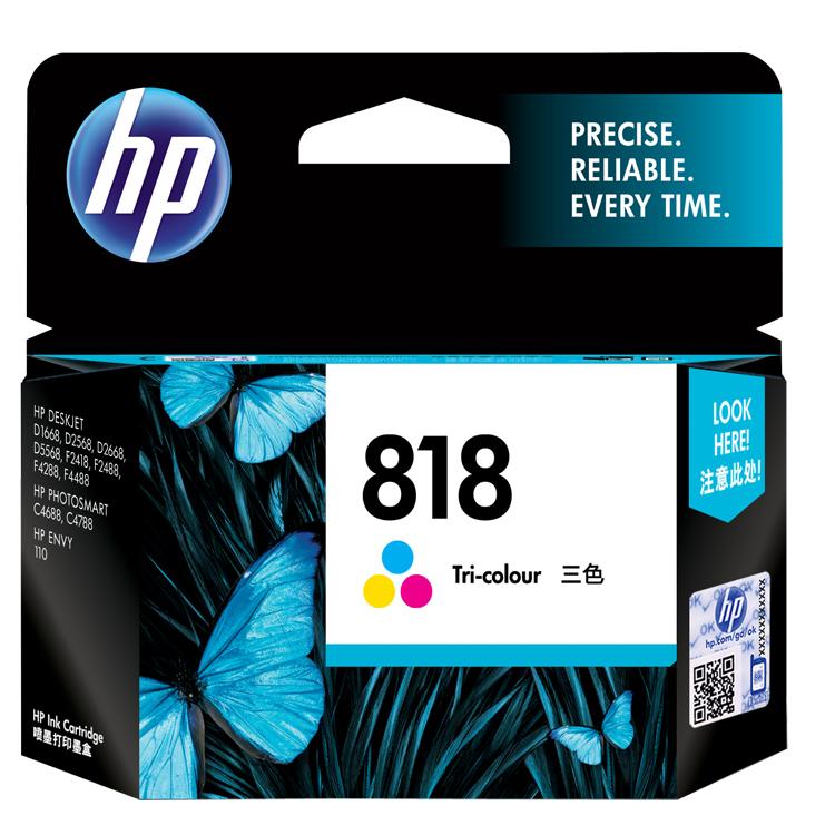 惠普(HP)CC643ZZ(818)彩盒 (适用于:HP Deskjet D1668/D2568/F2418/F2488)