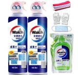 威露士空调清洁剂消毒剂空调清洗消毒液500mlx2瓶装免拆洗空调