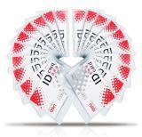 得力(deli)5752 软质PVC证件卡套/工作证/员工牌 横式 50只/盒 蓝色
